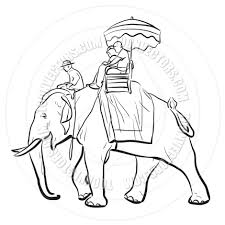 elephant riding sketch by tawng toon vectors eps 111504