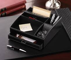 Stylish Desk Organizers by Leather Desk Organizer With Drawers Best Home Furniture Decoration