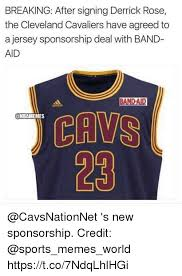 Derrick Rose Jersey Meme - breaking after signing derrick rose the cleveland cavaliers have