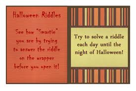 thanksgiving riddle ink rust and sawdust halloween smarties riddle box