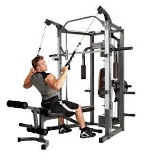 amazon com marcy smith machine with bench and weight bar home