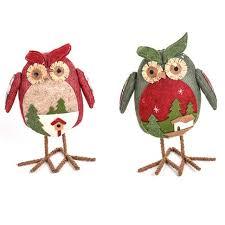 owl ornaments 1pc christmas owl doll desktop dolls owl ornaments fabric