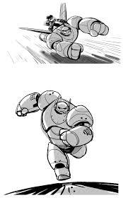 novos desenhos de jin kim para big hero 6 baymax e honey lemon