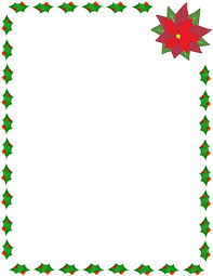 christmas holly and poinsettia border page frames holiday