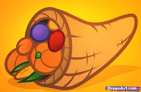 how to draw a cornucopia for step by step thanksgiving