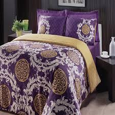 Plum Duvet Cover Set Bedroom Feriha Purple 6 Piece Duvet Cover Set With Purple Duvet