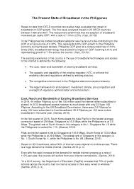 Sample Resume For Customer Service Supervisor by Position Paper State Of Broadband In The Philippines