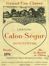 château calon ségur grand cru 1976 chateau calon segur estephe prices