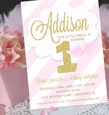 Baptism Invitation Cards Angel Party Invitation Little Angel Birthday Invitation