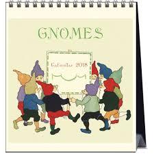 gnomes 2018 easel calendar 9789463470513 calendars com