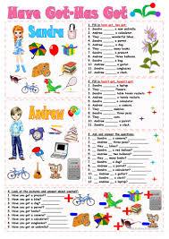 Tlsbooks English Worksheets 405 Free Esl Have Got Or Has Got Worksheets