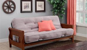futon p mission arm butternut full futon frame with mattress in