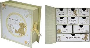 christening gift my special keepsakes box in yellow newborn or christening gift