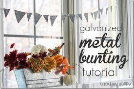 diy galvanized metal bunting tutorial unskinny boppy