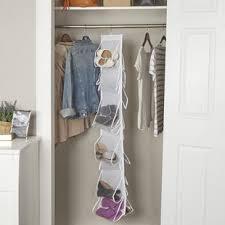 Shoe Rack For Closet Door The Door Shoe Racks Hanging Organizers You Ll Wayfair