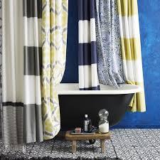 bathroom shower curtain ideas designs stripe shower curtain west elm