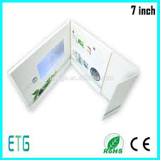 Lcd Invitation Card New Arrival A5 Cover Size 4 3inch Wedding Invitation Card Lcd