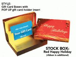 custom gift card holders happy holidays gift card box with pop up insert swipeit