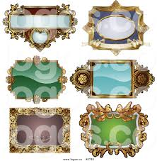 royalty free collage of antique ornate frame designs logo by