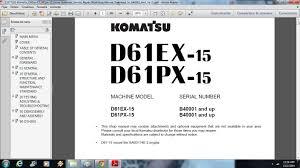 komatsu d61ex 15 d61px 15 dozer bulldozer service repair workshop