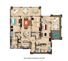 suite layouts garza blanca residence club three bedroom beach lock