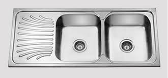 Kitchen Sinks With Drainboards Artistic Stainless Steel Kitchen Sink With Drainboard Dead Stock
