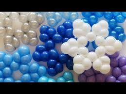 snowflake balloons простая снежинка из шаров simple snowflake of balloons