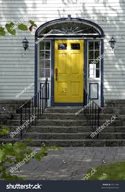 yellow front door on old north stock photo 1811416 shutterstock