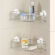 Bathroom Shelf Organizer by Aliexpress Com Buy Bathroom Shelf Corner Suction Cup Chrome Wall