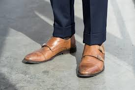 light brown monk strap shoes dressing it down the double breasted suit he spoke style