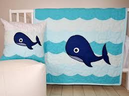Ocean Baby Bedding Nautical Nursery Bedding Whale Crib Quilt Childrens Room
