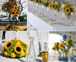 sunflower wedding decorations sunflower wedding inspiration sunflower wedding flowers