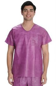 disposable nursing scrub tops hospital scrubs shirts cheap price