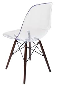Set Of 6 Replica Eames Dsw Eiffel Chair Clear Transparent