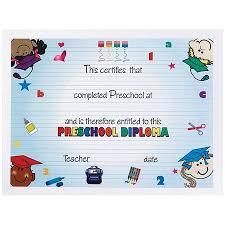 preschool diploma kindergarten graduation certificate colorful kids preschool diploma