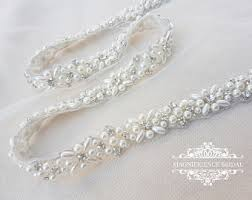 bridal sash thin bridal sash etsy