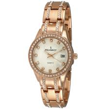 peugeot quartz side view womens watches