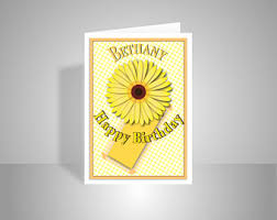 daughter or edit name happy birthday card for female