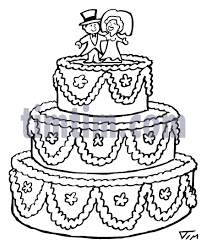 wedding cake drawing free drawing of a wedding cake bw from the category church