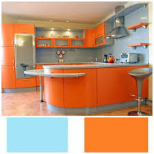 Turquoise And Orange Kitchen by Kitchen Colour Ergo Designer Kitchens Blog