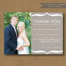 personalized cards wedding personalized wedding thank you cards with photo best sle thank