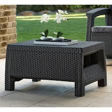 rattan coffee table outdoor keter corfu outdoor coffee table grey hayneedle