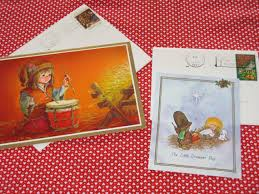 drummer boy vintage greeting cards