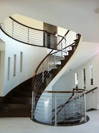 Modern Banister Dark Staircase Staircase Contemporary With Wood Staircase Marble