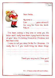 sample letter to santa claus with ps santa presents 28