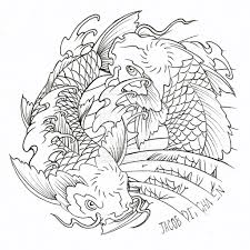 printable coloring pages koi fish