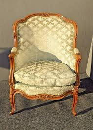 Antique Accent Chair Vintage Carved Louis Xv Style Barrel Back Bergere