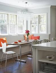 Quartz Table L L Shaped Built In Banquette Contemporary Kitchen Benjamin