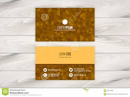Easy Business Card Design Geometric Business Card Design Template With Wooden Background