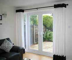 beauteous black and white patio door curtains ideas kitchen in
